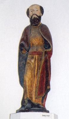 Svatý Vintíř, plastika z Muzea Šumavy v Sušici