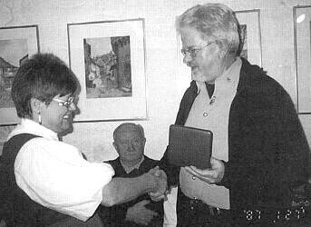 Při udělení medaile Adolfa Hasenöhrla