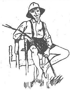 Šumavský pasáček na údajné kresbě Gabriele Breitové z knihy Roßei b'schlogn  je jen upravenou ilustrací Lothara Sperla pro chlapecký román Seppa Fischera Tief im Böhmerwald