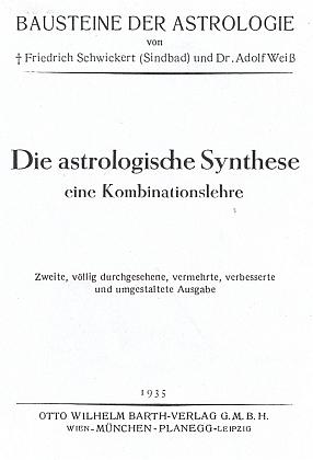 Titulní list (1935) druhého rozšířeného vydání jeho základní práce v nakladatelství Otto Wilhelm Barth...