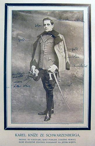 """Jeho děd Karel V. zemřel roku 1914 """"plně statečně čestnou povinnost na jižním bojišti"""""""