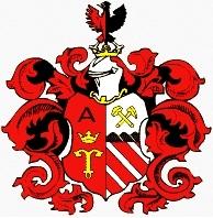 Znak obce Adamov, odkud pocházela jeho babička zotcovy strany Antonie Hollanská