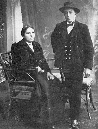 S bratrem Fritzem v mladých letech