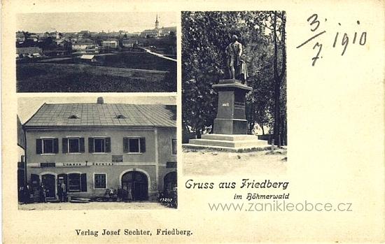 Pohlednice firmy Josef Sechter ve Frymburku, která dále žila z rodové tradice