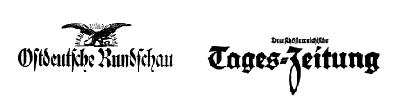 Záhlaví novin, které vedl (Ostdeutsche Rundschau a Deutschösterreichische Tages-Zeitung)