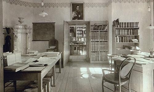 Někdejší kanceláře schwarzenberského archivu na čvrtém nádvoří zámku v Českém Krumlově