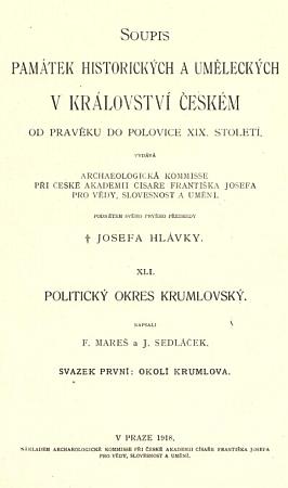 Titulní list prvního vydání jeho a Marešovy knihy (1918)...