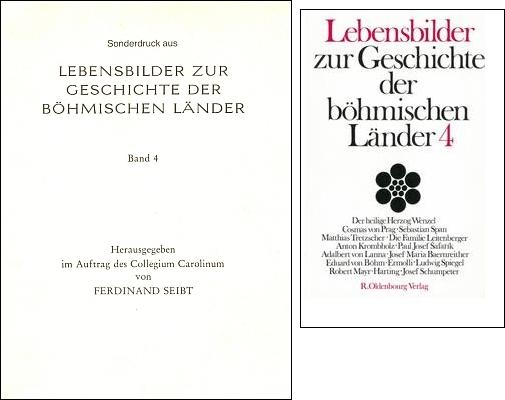 Obálka (1981) separátu s jeho textem (na webu i digitálně dostupným) o Adalbertu Lannovi, který vydal Ferdinand Seibt (1927-2003) z pověření Collegium Carolinum