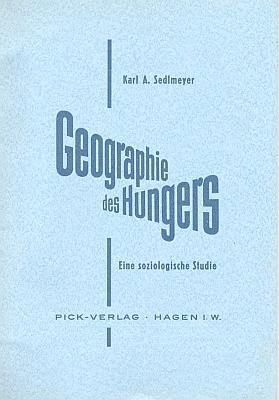 """Obálka (1962) jeho studie o """"zeměpisu hladu"""""""