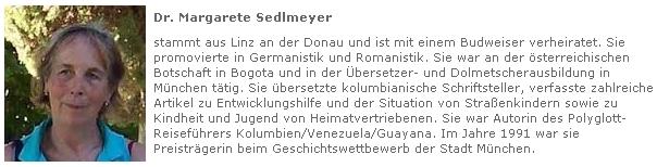 Profil Dr. Margarete Sedlmeyerové na webových stránkách Adalbert Stifter Verein