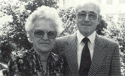 Se svou ženou Hermine, roz. Feilovou, o zlaté svatbě, kterou slavil vkvětnu 1982, rok a půl před svým skonem