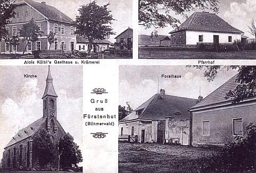 Knížecí Pláně na pohlednici z roku 1930