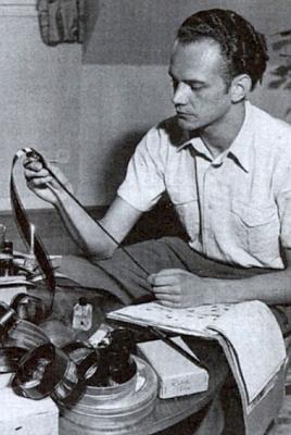 Jako mladý filmař v roce 1954