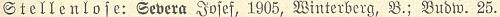 """Tady je při seznamu učitelstva ve Vimperku uveden na konci psán jako """"Severa"""" a tč. """"bez místa"""""""