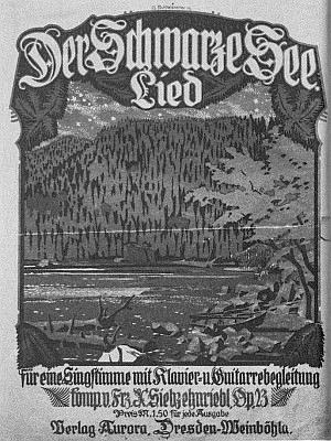Obálka jeho písně o Černém jezeře na slova Hanse Watzlika