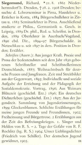 Jeho heslo v renomovaném německém literárním slovníku (1997)
