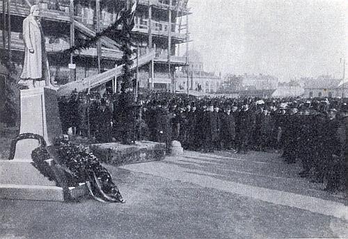 Odhalení Schillerova pomníku v tehdy rakouských Černovicích 10.listopadu 1907