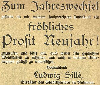 Novoroční přání z prosince 1915