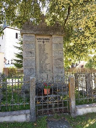 Na pomníku padlých v 1. světové válce v Nicově najdeme tři zástupce Simlova rodu