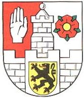 Znak durynského města Altenburg, kde v prosinci roku 1998 zemřel