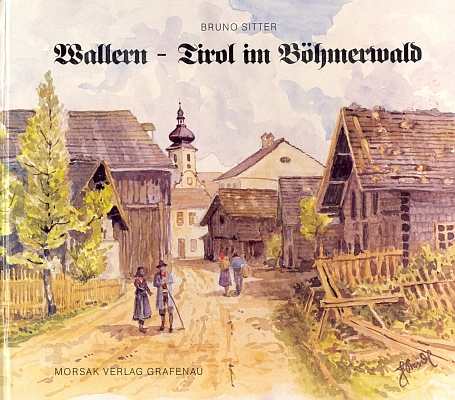 Obálka (1991) jeho knihy z nakladatelství Morsak v Grafenau sakvarelem Heinze Steidla
