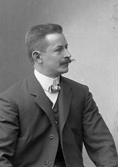 Otto Sitter na Seidelově snímku, datovaném 15.května 1910