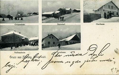 Stará pohlednice z jeho rodné Lipky