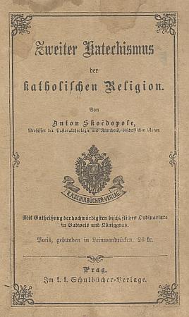 """Obálky německých vydání jeho """"prvního a druhého"""" katechismu"""