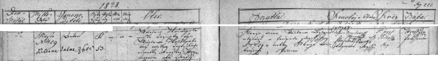 Záznam o jeho narození v soběslavské křestní matrice