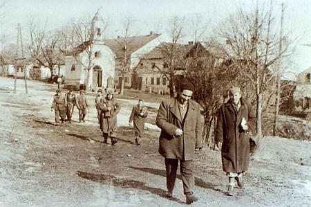 Klášterec po odsunu na snímku z roku 1946