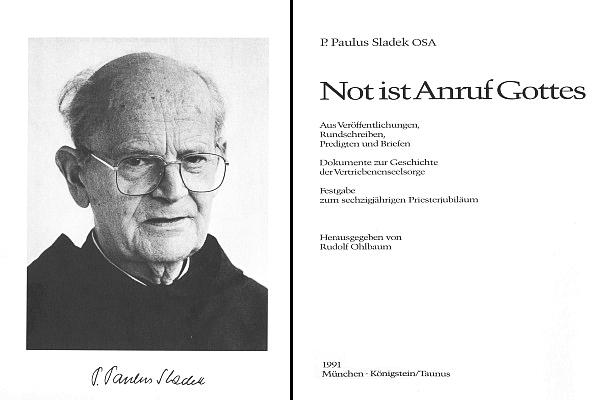 Frontispis a titulní list sborníku jeho textů (1991), jak ho sestavil Rudolf Ohlbaum
