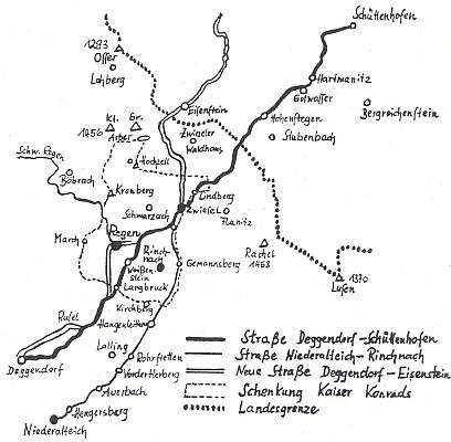 Vintířova stezka z Niederaltaich do Sušice kolem kláštera Rinchnach