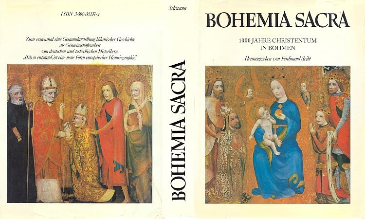 Obálka a vazba (1974) sborníku vydaného nakladatelstvím Schwann vDüsseldorfu k tisíciletí křesťanství vČechách s jeho významným příspěvkem o německém katolicismu v první Československé republice