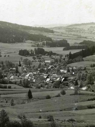 Zaniklé Cetviny na výřezu Seidelovy pohlednice