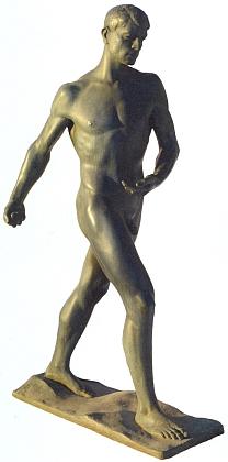 """Socha Williho (Wilhelma) Knappa (1901-1972) snázvem Der Sämann (Rozsévač), náležející dnes dosbírek Alšovy jihočeské galerie v Hluboké nad Vltavou, nese ve tváři jisté """"Vůdcovy"""" rysy - její autor, který v roce 1924 emigroval do USA, se ostatně po Hitlerově nástupu k moci do Německa vrátil askulptura Rozsévač byla """"Führerem"""" zakoupena pro velkou výstavu německého umění roku 1940"""