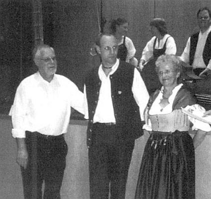 Rodina Slawikova: odleva Hans, Florian a Renate Slawikovi v lednu 1988, kdy rodiče slavili své šedesátiny a syn se stal třicátníkem