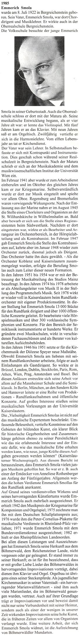 Jeho curriculum vitae na stránkách krajanského časopisu,     věnovaných nositelům Kulturní ceny města Pasova