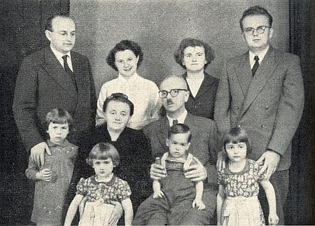 Snímek Smolovy rodiny z Kašperských Hor