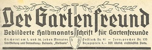 Záhlaví jeho časopisu od 1. ročníku 1926, před válkou ještě v roce 1938 a za války, kdy od poloviny února 1941 jméno Josef Sobischek z tiráže mizí
