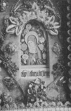 """Elfriede Weismannová a její """"klášterní práce"""", zde s prosbou ke sv.Valpurze"""