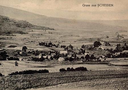 Rodné Šejby na staré pohlednici, autorem snímku je fotograf Mašek zTrhových Svinů