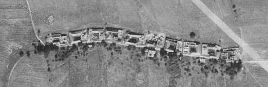 Dolní Hraničná na leteckých snímcích z let 1952 a 2008