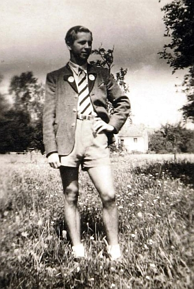Během studií v Eferdingu  v roce 1946