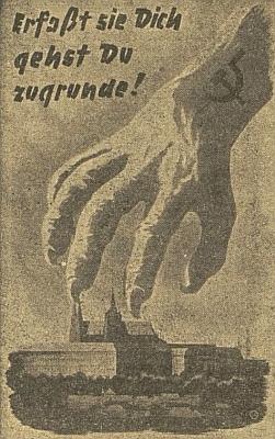 """Plakát z roku 1943, jehož český text zněl: """"Zachvátí-li Tě, zahyneš!"""", na stránkách budějovického německého listu - Willimu bylo tehdy necelých 15 let"""