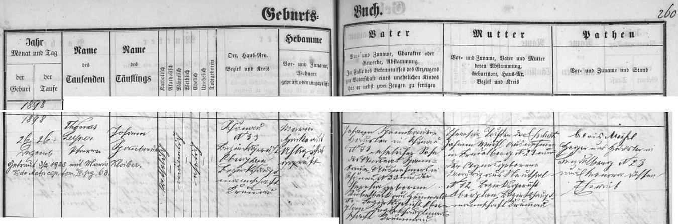 """Záznam """"šenavské"""" křestní matriky o narození jejího otce s přípisem o zdejší svatbě rodičů dne 3. února roku 1925"""
