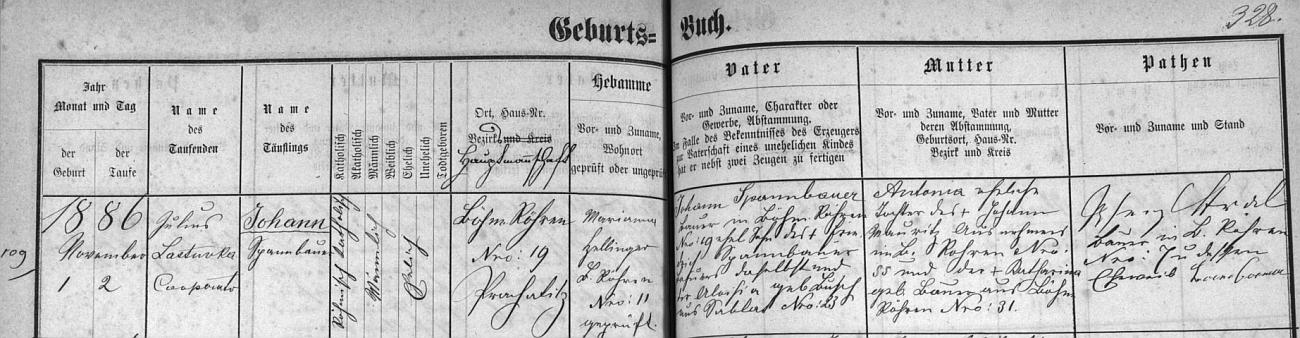 Narodil se v Českých Žlebech čp. 19 v rodině rolníka Johanna Spannbauera (jeho otec Friedrich Spannbauer na témže stavení sedlačil se svou ženou Aloisií, roz. Lukschovou ze Záblatí čp. 23) a jeho ženy Antonie, dcery Johanna Mauritze zČeských Žlebů čp. 55 a jeho ženy Kathariny, roz Bauerové z Českých Žlebů čp. 31