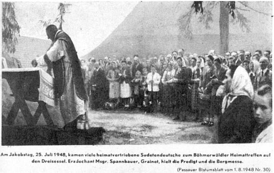V červenci 1948 sloužil o svatojakubském setkání na Třístoličníku horskou mši s kázáním