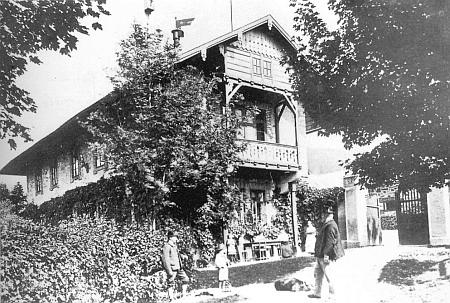 Někdejší podoba schwarzenberské myslivny u Kunžvartu