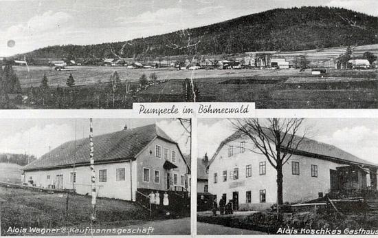 Pumperle (Řasnice) na staré pohlednici