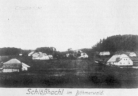 """Někdejší """"Schlösselbach"""" (také """"Schlösselbachel"""" či """"Schlössbachl"""") na staré pohlednici"""